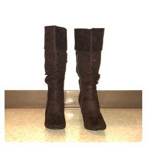 Women's thigh high boots.